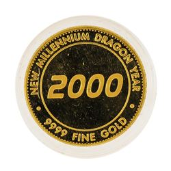2000 Poh Kong Mint .9999 Fine Gold New Millennium Dragon Gold Coin