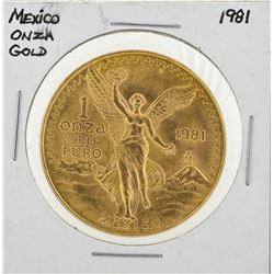1981 Mexico 1 Onza Libertad Gold Coin
