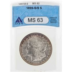 1899-S/S $1 Morgan Silver Dollar Coin ANACS MS63