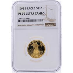 1992-P $10 American Gold Eagle Coin NGC Graded PF70 Ultra Cameo