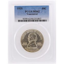 1925  Fort Vancouver Centennial Half Dollar PCGS Graded MS62