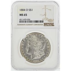1884-O $1 Morgan Silver Dollar Coin NGC MS65