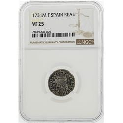 1731M F Spain Real Coin NGC VF25