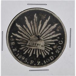 1891 ZS Mexico 8 Reales Silver Coin