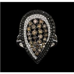 18KT White and Black Rhodium Plated Gold 2.02ctw Diamond Ring