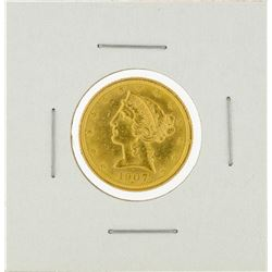 1907 $5 Liberty Head Half Eagle Gold Coin
