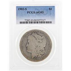 1902-S $1 Morgan Silver Dollar Coin PCGS AG03
