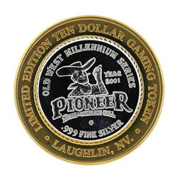 .999 Silver Pioneer Hotel and Gambling Hall $10 Casino Limited Edition Gaming To