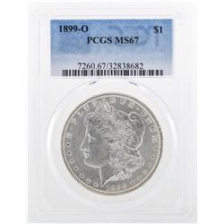 1899-O $1 Morgan Silver Dollar Coin PCGS MS67