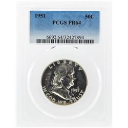 1951 Franklin Half Dollar Coin PCGS Graded PR64
