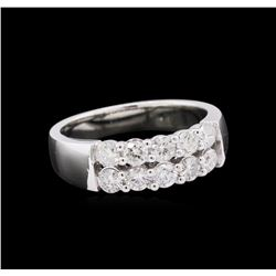 14KT White Gold 0.88ctw Diamond Ring