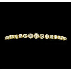 14KT Yellow Gold 6.80ctw Diamond Tennis Bracelet