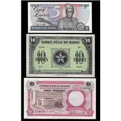 Lot of (3) Assorted Africa Notes