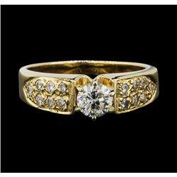 14KT Yellow Gold 0.63ctw Diamond Ring