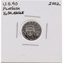 2002 $10 Platinum 1/10 oz Eagle Coin