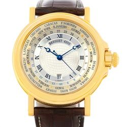 Breguet Marine World Time Hora Mundi 18K Yellow Gold Watch