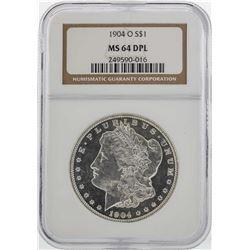 1904-O $1 Morgan Silver Dollar Coin NGC MS64 DPL
