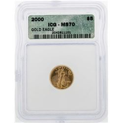 2000 $5 American Gold Eagle Coin ICG MS70