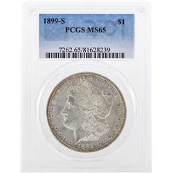 1899-S $1 Morgan Silver Dollar Coin PCGS MS65