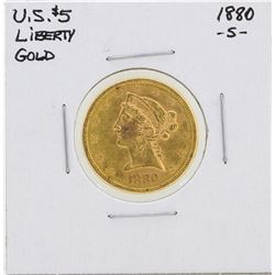 1880-S $5 Liberty Head Half Eagle Gold Coin