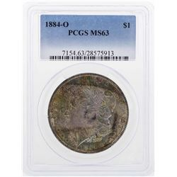 1884-O $1 Morgan Silver Dollar Coin PCGS MS63 Great Toning