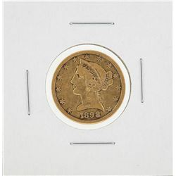 1898-S $5 Liberty Head Half Eagle Gold Coin