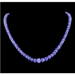 14KT Yellow Gold 143.00ctw Tanzanite Necklace