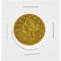 1901-S $10 Liberty Head Eagle Gold Coin AU