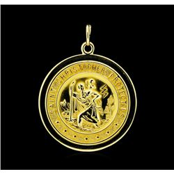 14KT Yellow Gold St. Christopher Pendant