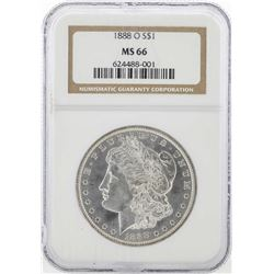 1888-O $1 Morgan Silver Dollar Coin NGC MS66