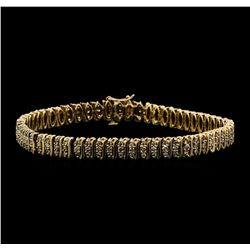 14KT Yellow Gold 2.00ctw Diamond S-Link Style Bracelet