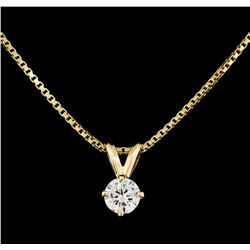 14KT Yellow Gold 0.40ct Diamond Pendant with Chain