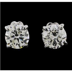 14KT White Gold 0.50ctw Diamond Earrings