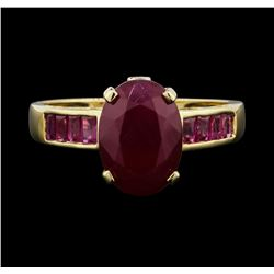 14KT Yellow Gold 3.00ctw Ruby and Diamond Ring
