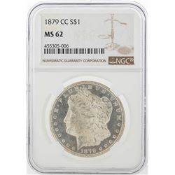 1879-CC $1 Morgan Silver Dollar Coin NGC MS62