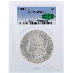 1881-CC $1 Morgan Silver Dollar Coin PCGS MS66+ CAC