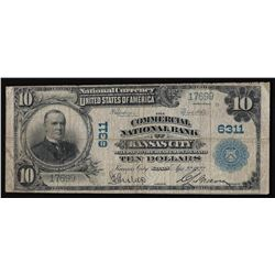 1902 $10 National Bank of Kansas City Kansas National Currency Note