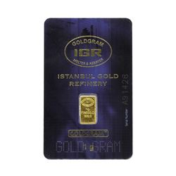 1 Gram Istanbul Gold Refinery Card