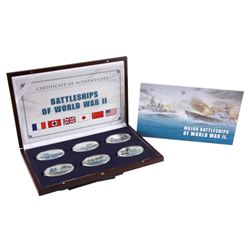 2013 $1 Oval Battleships of World War II Proof Clad Coin Set
