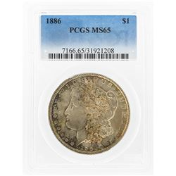 1886 $1 Morgan Silver Dollar PCGS Graded MS65