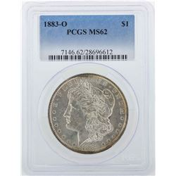 1883-O $1 Morgan Silver Dollar Coin PCGS MS62