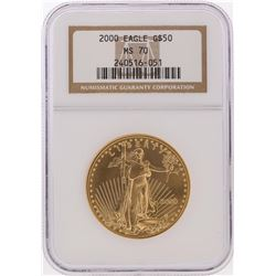 2000 $50 American Gold Eagle Coin NGC Graded MS70