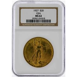 1927 $20 St. Gaudens Double Eagle Gold Coin GSA NGC MS62