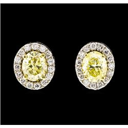 14KT Two Tone Gold 1.44ctw Diamond Earrings