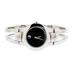 Ladies Movado Museum Amorosa Bangle Stainless Steel Wristwatch
