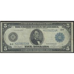 1914 $5 Large Size Federal Reserve Note