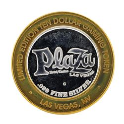 .999 Silver Plaza Hotel and Casino $10 Casino Limited Edition Gaming Token