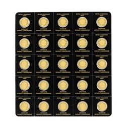 Lot of (25) 2016 Canada 1 Gram .9999 Fine Gold Maple Coins