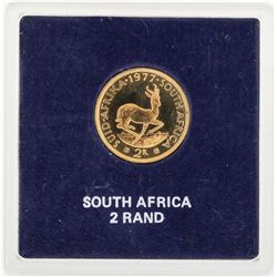 1977 South Africa 2 Rand Gold Coin
