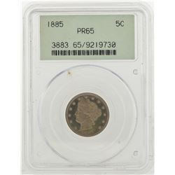 1885 Liberty V Nickel Coin PCGS MS65PR